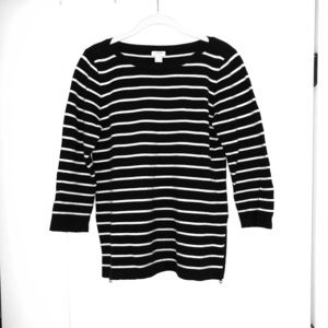 J.Crew Navy & White Striped Sweater Size Small